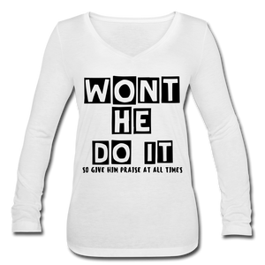FAITH COLLECTION Womens Long Sleeve - white