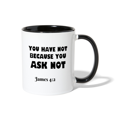 FAITH COLLECTION Contrast Coffee Mug - white/black