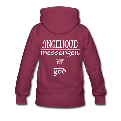 PERSONALIZED Men/Women's Premium Hoodie - burgundy
