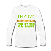 Load image into Gallery viewer, IN GOD WE TRUST COLLECTION Men's Premium Long Sleeve T-Shirt - white