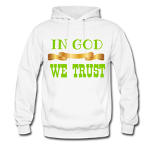 Load image into Gallery viewer, IN GOD WE TRUST Women/Men's Hoodie - white