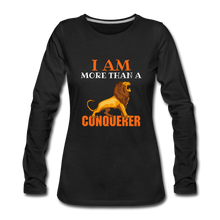 Load image into Gallery viewer, I AM MORE THAN COLLECTION Women's Premium Long Sleeve T-Shirt - black