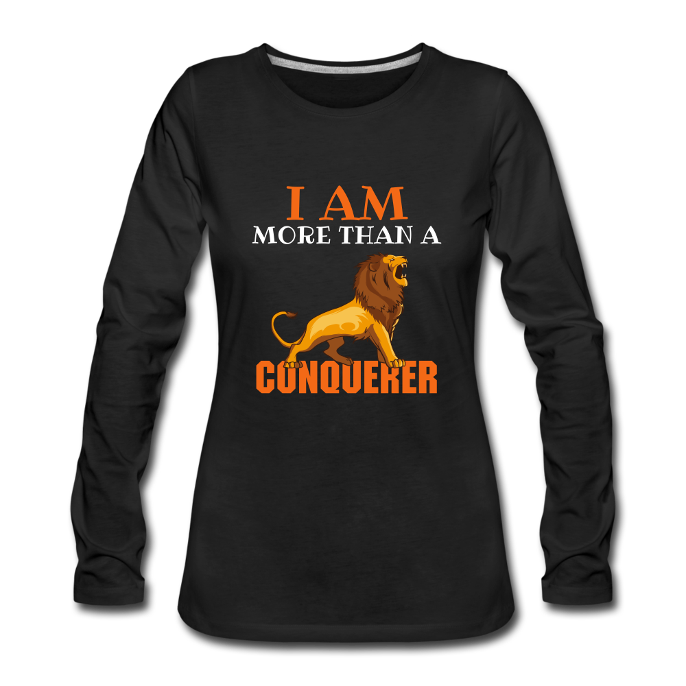 I AM MORE THAN COLLECTION Women's Premium Long Sleeve T-Shirt - black