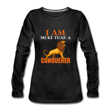 Load image into Gallery viewer, I AM MORE THAN COLLECTION Women's Premium Long Sleeve T-Shirt - charcoal gray