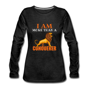 I AM MORE THAN COLLECTION Women's Premium Long Sleeve T-Shirt - charcoal gray