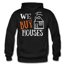 Load image into Gallery viewer, WE BUY HOUSES COLLECTION UNISEX Gildan Heavy Blend Adult Hoodie - black