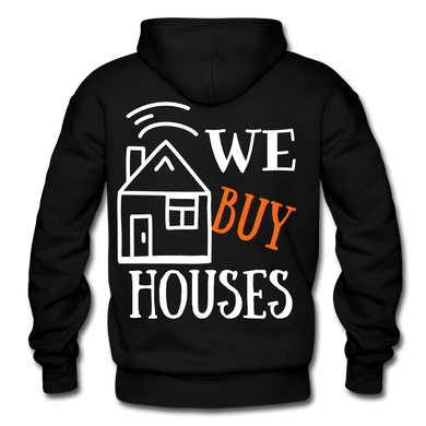 WE BUY HOUSES COLLECTION UNISEX Gildan Heavy Blend Adult Hoodie - black