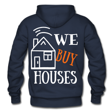 Load image into Gallery viewer, WE BUY HOUSES COLLECTION UNISEX Gildan Heavy Blend Adult Hoodie - navy