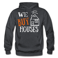 Load image into Gallery viewer, WE BUY HOUSES COLLECTION UNISEX Gildan Heavy Blend Adult Hoodie - charcoal gray