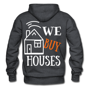 WE BUY HOUSES COLLECTION UNISEX Gildan Heavy Blend Adult Hoodie - charcoal gray