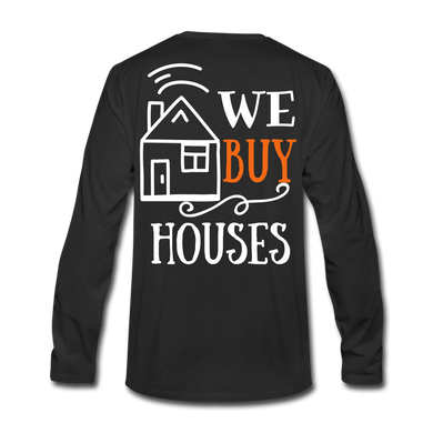 WE BUY HOUSES COLLECTION Men's Premium Long Sleeve T-Shirt - black