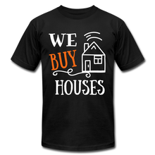 Load image into Gallery viewer, WE BUY HOUSES COLLECTION Unisex Jersey T-Shirt by Bella + Canvas - black