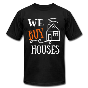 WE BUY HOUSES COLLECTION Unisex Jersey T-Shirt by Bella + Canvas - black