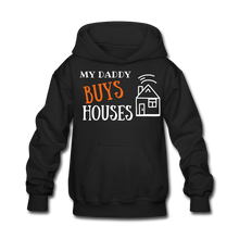 Load image into Gallery viewer, WE BUY HOUSES COLLECTION Kids' Hoodie - black