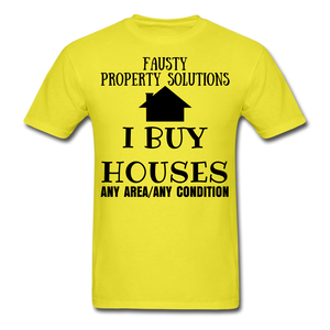 I BUY HOUSES COLLECTION Unisex Classic T-Shirt - yellow