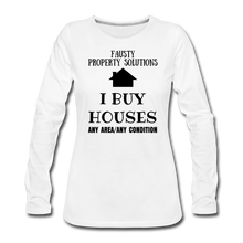 Load image into Gallery viewer, I BUY HOUSES COLLECTION Women's Premium Long Sleeve T-Shirt - white