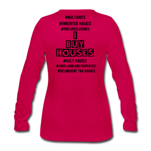 I BUY HOUSES COLLECTION Women's Premium Long Sleeve T-Shirt - dark pink