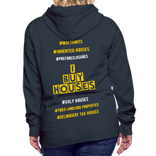 Load image into Gallery viewer, I BUY HOUSES COLLECTION Women's Premium Hoodie - navy