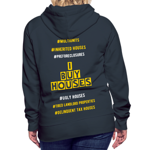 I BUY HOUSES COLLECTION Women's Premium Hoodie - navy