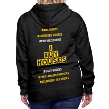 Load image into Gallery viewer, I BUY HOUSES COLLECTION Women's Premium Hoodie - charcoal gray