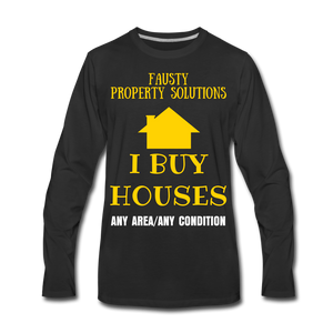 I BUY HOUSES COLLECTION Men's Premium Long Sleeve T-Shirt - black