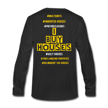Load image into Gallery viewer, I BUY HOUSES COLLECTION Men's Premium Long Sleeve T-Shirt - black