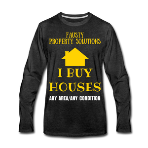 I BUY HOUSES COLLECTION Men's Premium Long Sleeve T-Shirt - charcoal gray
