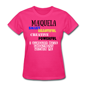 NAME PERSONALIZED COLLECTION Women's T-Shirt - fuchsia