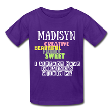 Load image into Gallery viewer, NAME COLLECTION Gildan Ultra Cotton Youth T-Shirt - purple