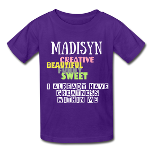 NAME COLLECTION Gildan Ultra Cotton Youth T-Shirt - purple