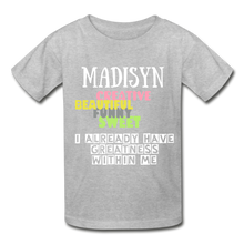Load image into Gallery viewer, NAME COLLECTION Gildan Ultra Cotton Youth T-Shirt - heather gray
