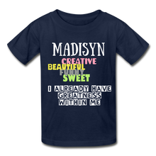 Load image into Gallery viewer, NAME COLLECTION Gildan Ultra Cotton Youth T-Shirt - navy