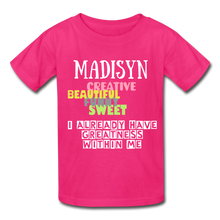 Load image into Gallery viewer, NAME COLLECTION Gildan Ultra Cotton Youth T-Shirt - fuchsia