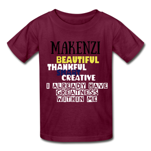 NAME PERSONALIZED COLLECTION Gildan Ultra Cotton Youth T-Shirt - burgundy