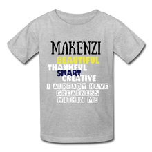 Load image into Gallery viewer, NAME PERSONALIZED COLLECTION Gildan Ultra Cotton Youth T-Shirt - heather gray