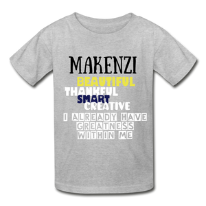 NAME PERSONALIZED COLLECTION Gildan Ultra Cotton Youth T-Shirt - heather gray