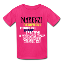 Load image into Gallery viewer, NAME PERSONALIZED COLLECTION Gildan Ultra Cotton Youth T-Shirt - fuchsia