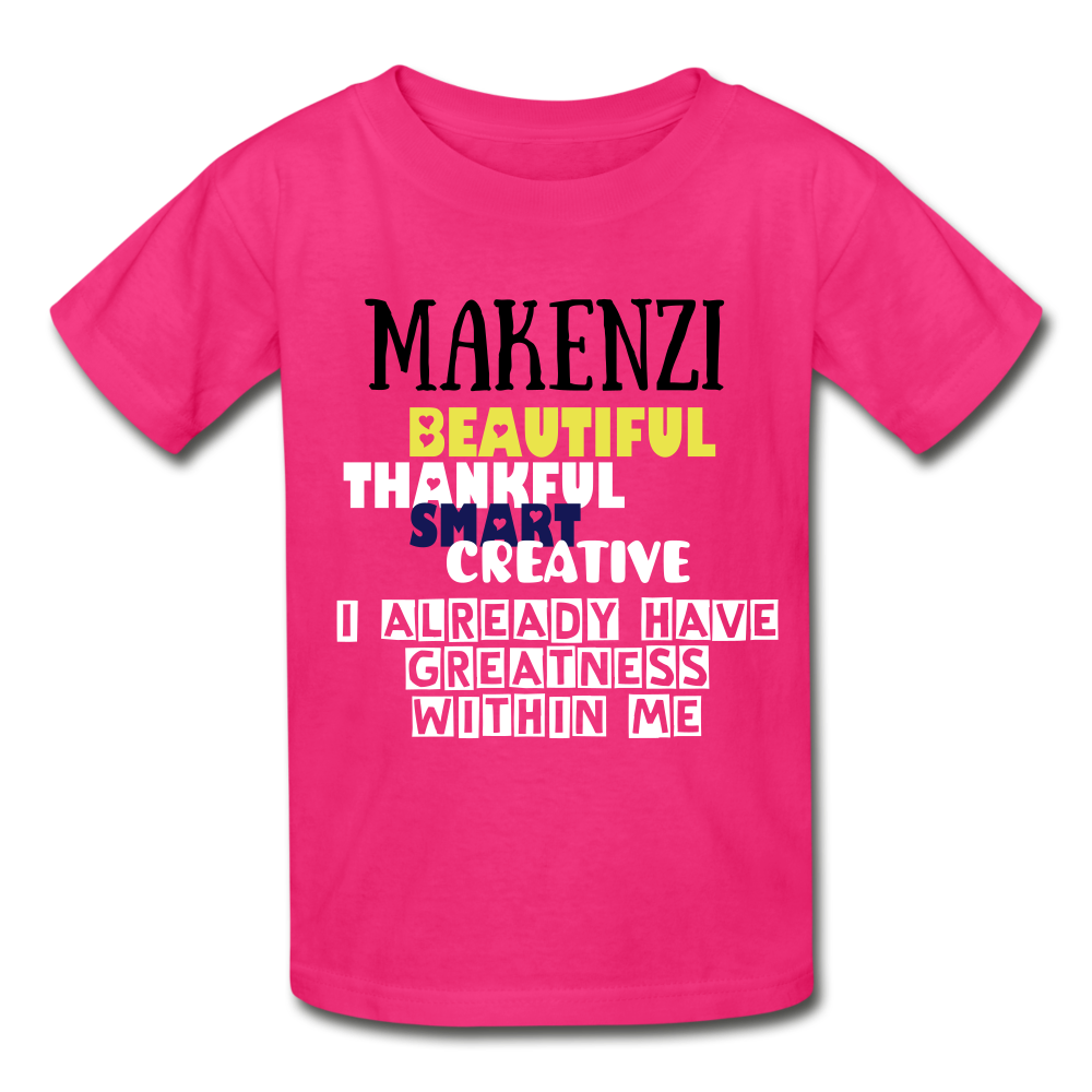 NAME PERSONALIZED COLLECTION Gildan Ultra Cotton Youth T-Shirt - fuchsia