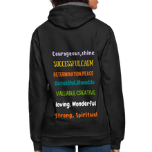 Load image into Gallery viewer, Black History Collection Contrast Hoodie - black/asphalt