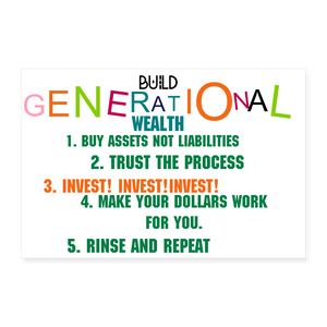 GENERATIONAL WEALTH Poster 36x24 - white