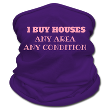 Load image into Gallery viewer, I BUY HOUSES Multifunctional Scarf | Tan's Club - purple