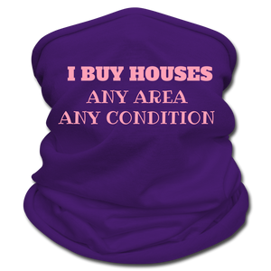 I BUY HOUSES Multifunctional Scarf | Tan's Club - purple