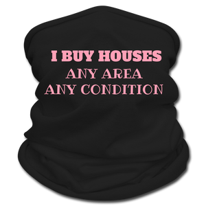 I BUY HOUSES Multifunctional Scarf | Tan's Club - black