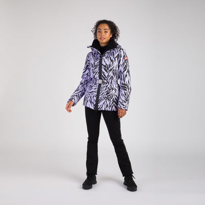 Belted Women Ski Jacket Print