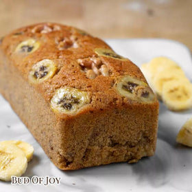 Organic 100% Wholemeal Banana Walnut Cake