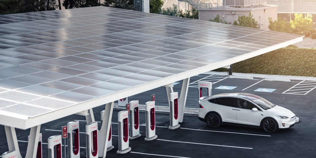 Solar Charging Stations for Electric Vehicles