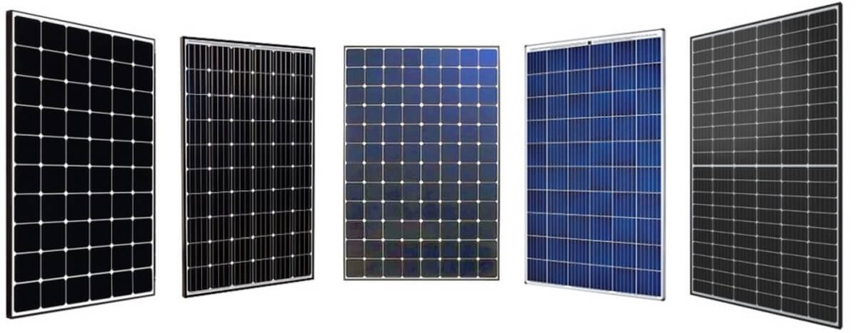 Price of different types of solar panels