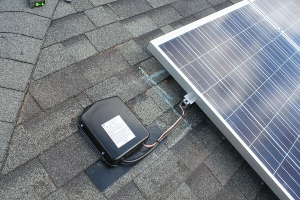 SolaDeck on roof