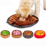 Pet Snuffle Mat for Dogs, Interactive Feed Game for Boredom, Encourages Natural Foraging Skills for Cats Dogs Bowl