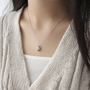 Choker Necklace Silver Simple Beads Pendant Chain Necklace for Women Girls Gift